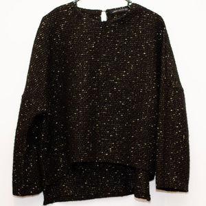 Zara Woman Black and Gold fleck Sweater